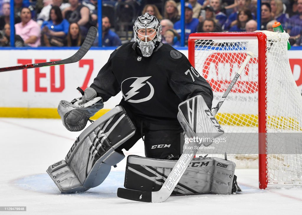 NHL: MAR 09 Red Wings at Lightning : News Photo