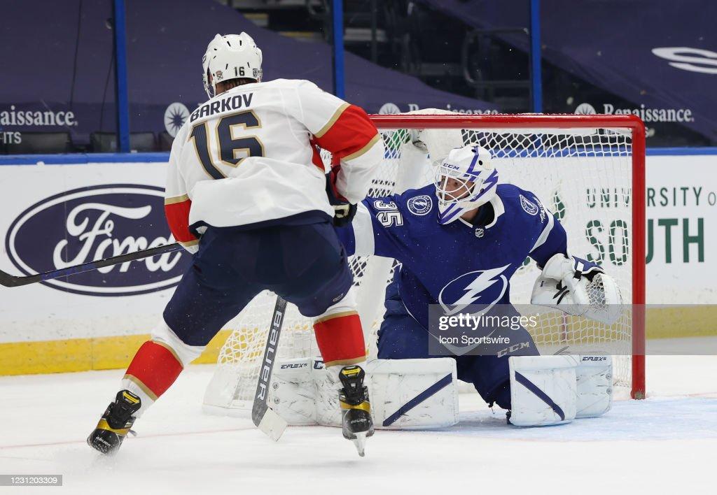 NHL: FEB 15 Panthers at Lightning : News Photo