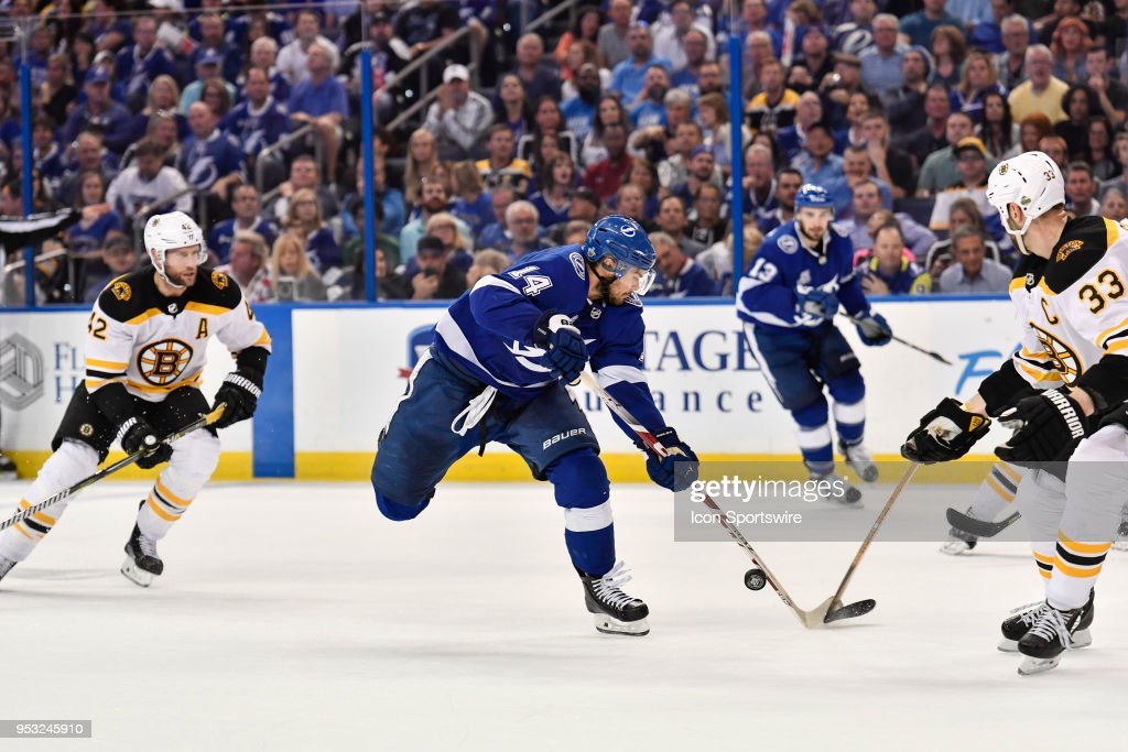 NHL: APR 30 Stanley Cup Playoffs Second Round Game 2 - Bruins at Lightning : News Photo