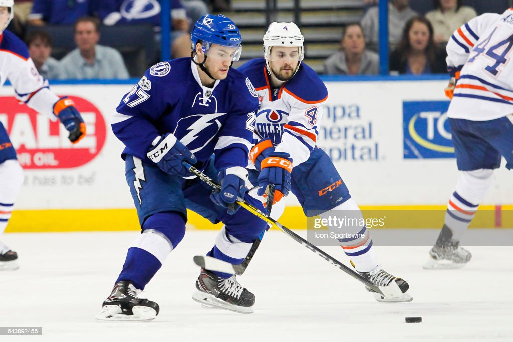 NHL: FEB 21 Oilers at Lightning : News Photo