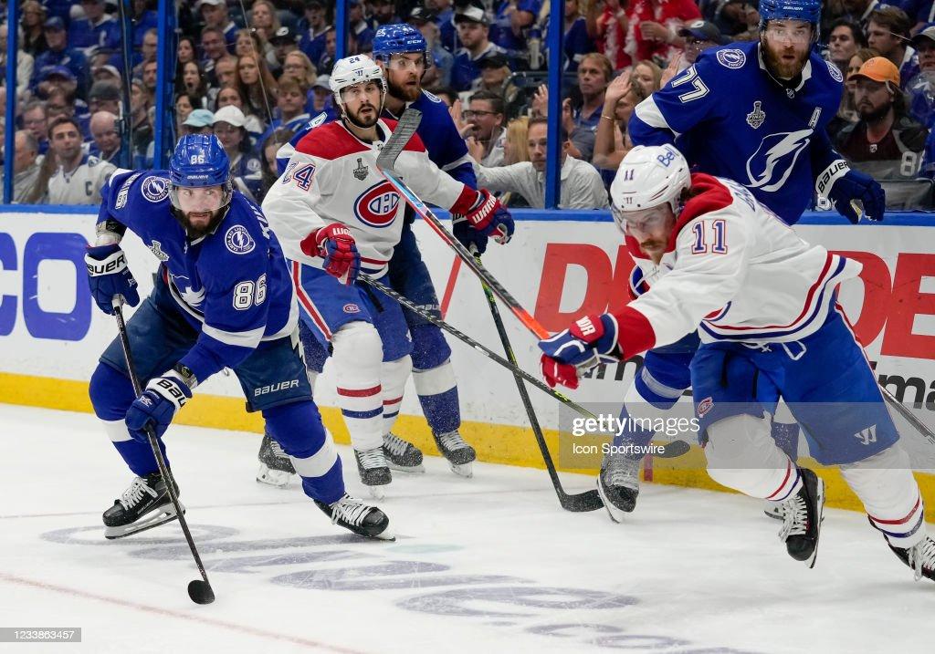 NHL: JUL 07 Stanley Cup Playoffs Final - Canadiens at Lightning : ニュース写真