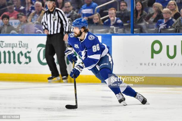 Tampa Bay Lightning right wing Nikita Kucherov during the first period of an NHL game between the Montreal Canadiens and the Tampa Bay Lightning on...