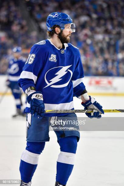 Tampa Bay Lightning right wing Nikita Kucherov during the second period of an NHL game between the Montreal Canadiens and the Tampa Bay Lightning on...