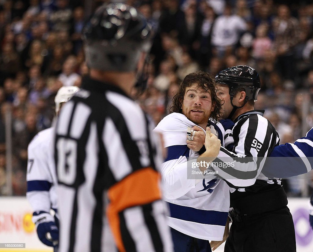 Tampa Bay Lightning right wing Steve Downie #9 pleads his case on play that amounted to 16 penalty m : News Photo