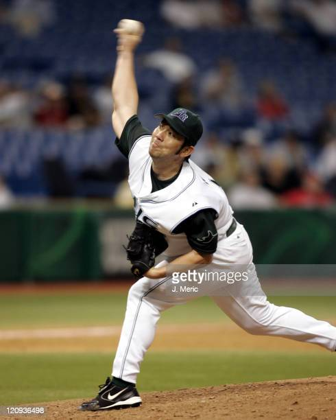 Tampa Bay pitcher Hideo Nomo in action The Tampa Bay Devil Rays defeated the Milwaukee Brewers 53 play at Tropicana Field in St Petersburg Florida on...