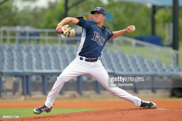 2018 Tampa Bay Rays first round pick 18yearold lefthander Matthew Liberatore of the Rays delivers a pitch to the plate for his first professional...