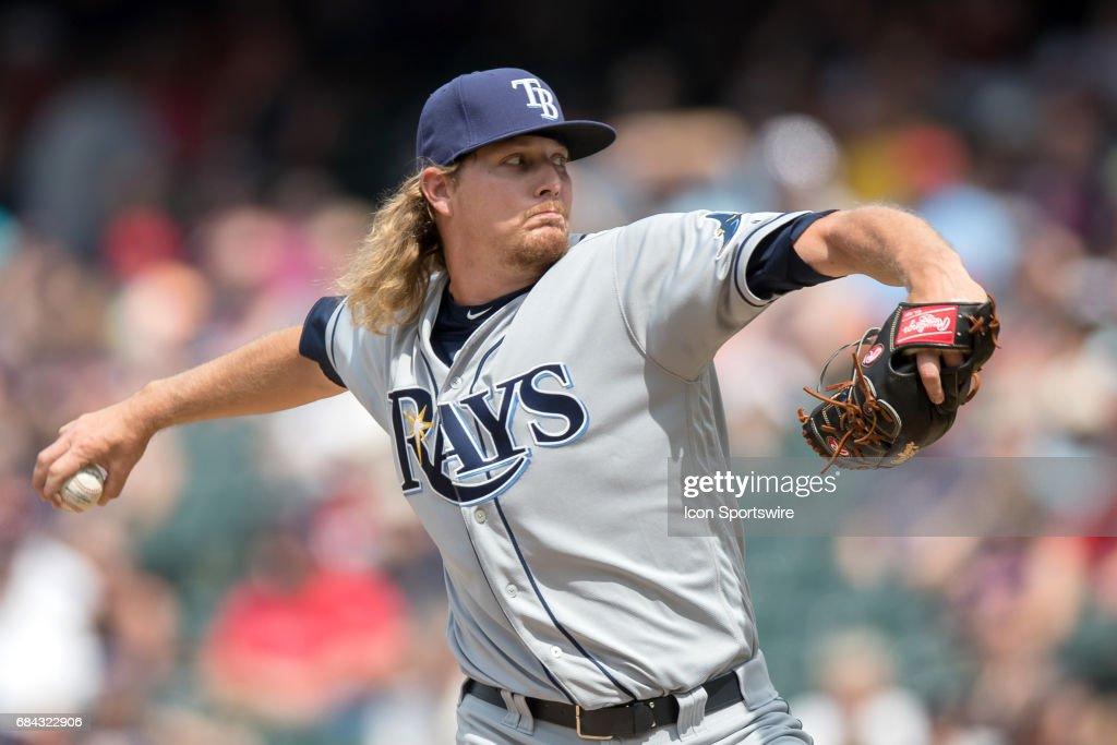 MLB: MAY 17 Rays at Indians : News Photo