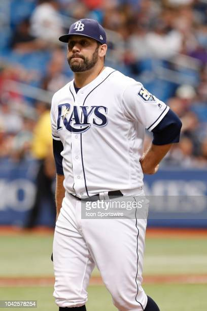 Tampa Bay Rays relief pitcher Andrew Kittredge during the regular season MLB game between the New York Yankees and Tampa Bay Rays on September 27...
