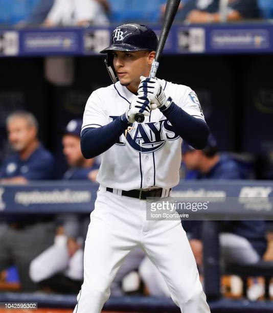 Tampa Bay Rays shortstop Andrew Velazquez during the regular season MLB game between the New York Yankees and Tampa Bay Rays on September 27 2018 at...