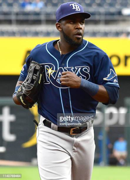 Tampa Bay Rays third baseman Yandy Diaz during game two of a doubleheader Major League Baseball game between the Tampa Bay Rays and the Kansas City...