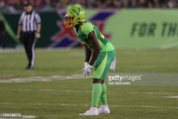 Tampa Bay Vipers cornerback Anthoula Kelly during the XFL game between the DC Defenders and Tampa Bay Vipers on March 01 2020 at Raymond James...
