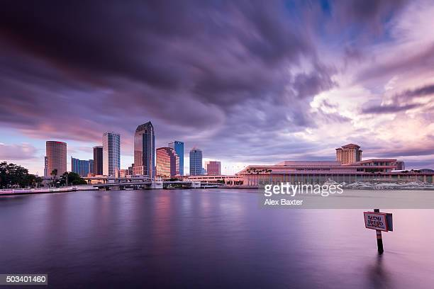 Tampa City Convention Center - Dramatic sunset after storm