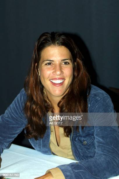 Tampa Florida ranked in 2001 Jennifer Capriati smiling during a meet and greet session with vips following her 64 75 lack luster loss to Anna...