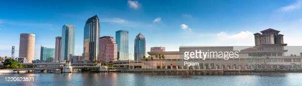 tampa florida usa downtown city skyline in the morning - tampa stock pictures, royalty-free photos & images