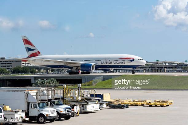 Tampa International Airport Florida USA A British Airways Boeing 777 arriving from London