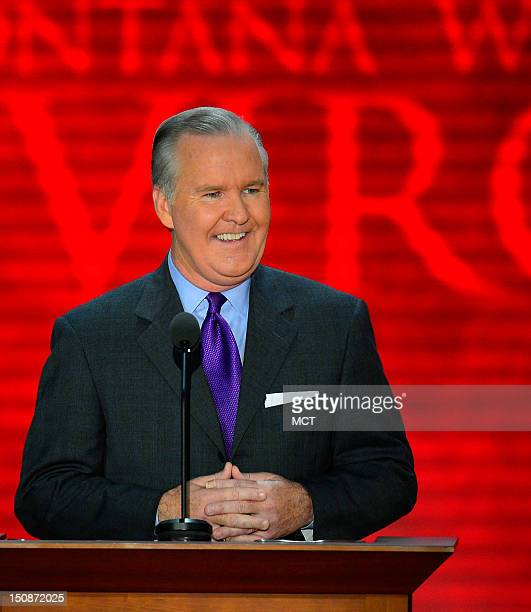 Tampa Mayor Bob Buckhorn addresses the second session of the 2012 Republican National Convention at the Tampa Bay Times Forum in Tampa Tuesday August...