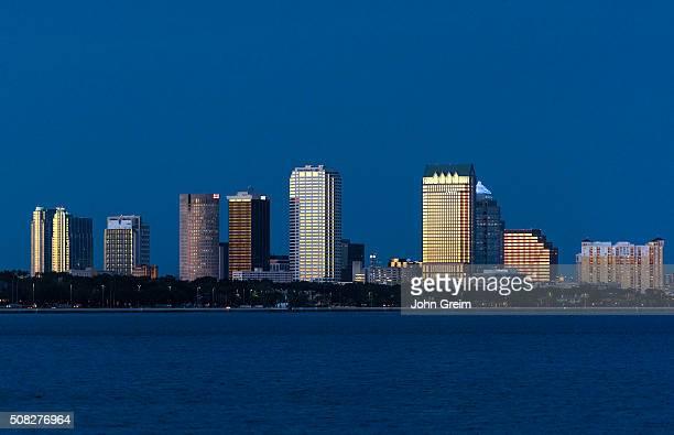 Tampa skyline across Hillsborough Bay.