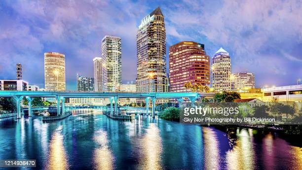 tampa skyline - tampa stock pictures, royalty-free photos & images