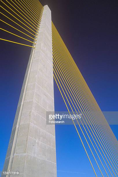 tampa sunshine skyway bridge - sunshine skyway bridge stock photos and pictures