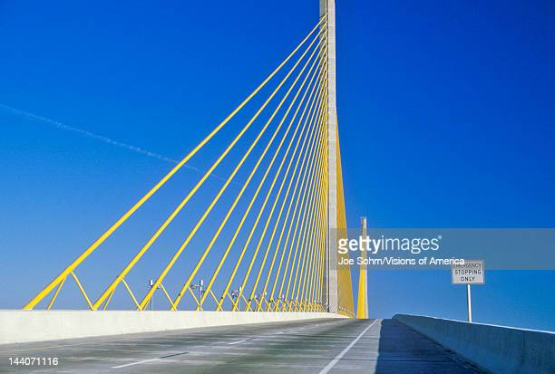 Tampa Sunshine Skyway Bridge world's longest cablestayed concrete bridge Tampa Bay Florida
