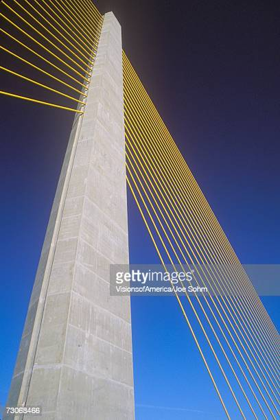 """tampa sunshine skyway bridge, world's longest cable-stayed concrete bridge, tampa bay, florida"" - sunshine skyway bridge stock photos and pictures"
