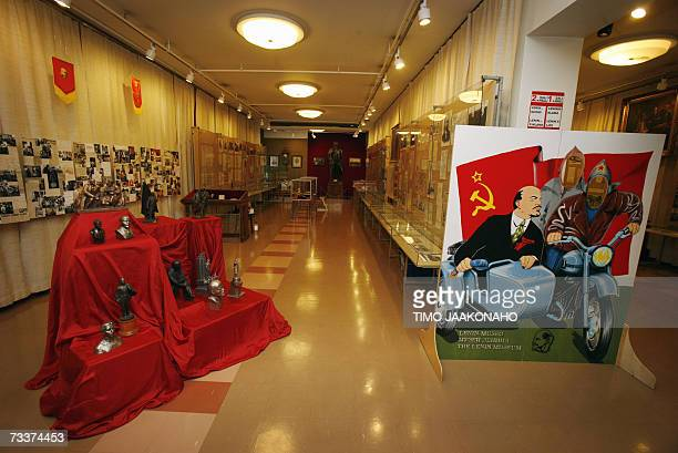 FOR A STORY IN FRENCH AND ENGLISH ON THE LENIN MUSEUM IN TAMPERE This file picture dated 20 January 2006 shows the only permanent Lenin Museum in the...