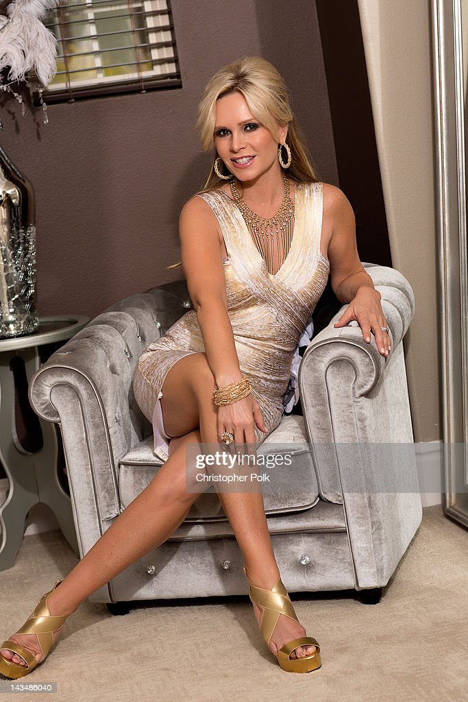 Tamra Barney of 'Real Housewives Of Orange County' poses during a photo shoot April 21, 2012 in Laguna Beach, California.