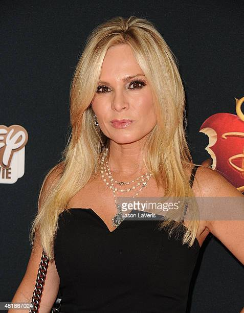 Tamra Judge attends the premiere of Descendants at Walt Disney Studios Main Theater on July 24 2015 in Burbank California