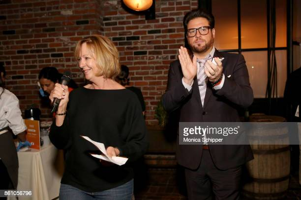 Tamra McCraw and Chef Scott Conant speak during Aperitivo hosted by Scott Conant at The Standard High Line on October 13 2017 in New York City