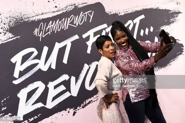 Tamron Hall and Bozoma Saint John pose during Glamour Celebrates 2017 Women Of The Year Live Summit at Brooklyn Museum on November 13 2017 in New...