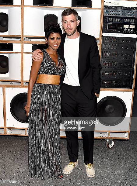 Tamron Hall and Brook Klausing attend The 2016 Brooklyn Museum Artists Ball Honoring Stephanie and Tim Ingrassia on April 20 2016 in New York City