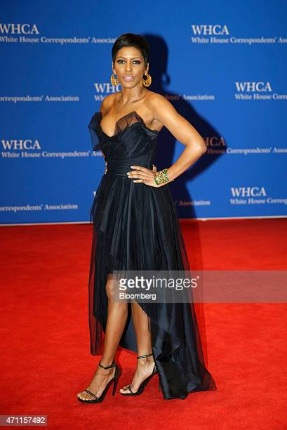 Tamron Hall arrives for the White House Correspondents' Association dinner in Washington DC US on Saturday April 25 2015 The 101st WHCA raises money...