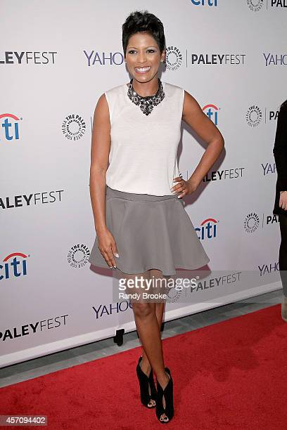 Tamron Hall attends 2nd Annual Paleyfest New York Presents 'The Walking Dead' at Paley Center For Media on October 11 2014 in New York New York