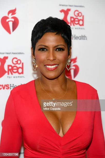 Tamron Hall attends The American Heart Association's Go Red for Women Red Dress Collection 2020 at Hammerstein Ballroom on February 05 2020 in New...