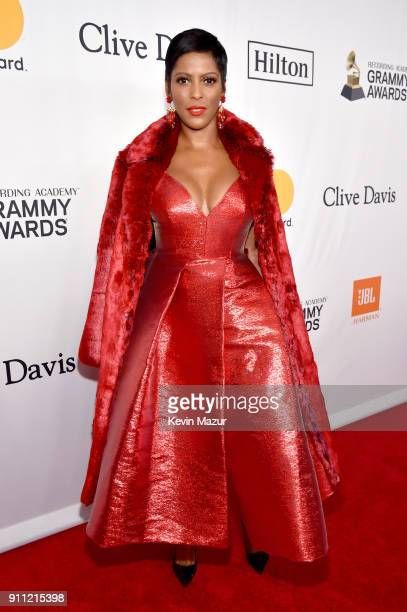 Tamron Hall attends the Clive Davis and Recording Academy PreGRAMMY Gala and GRAMMY Salute to Industry Icons Honoring JayZ on January 27 2018 in New...