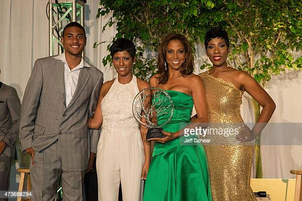 Tamron Hall Holly Robinson Peete and Karli Harvey attend The 2015 Steve Marjorie Harvey Foundation Gala on May 16 2015 in Chicago Illinois