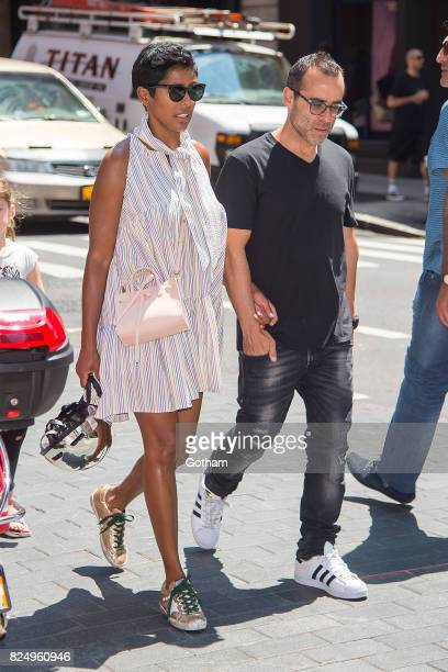 Tamron Hall is seen in SoHo on July 31 2017 in New York City