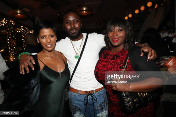 Tamron Hall Terrell and Bevy Smith attend the Chez Lucienne Of Harlem Grand ReOpening and Fantasia's Christmas After Party at Chez Lucienne on...
