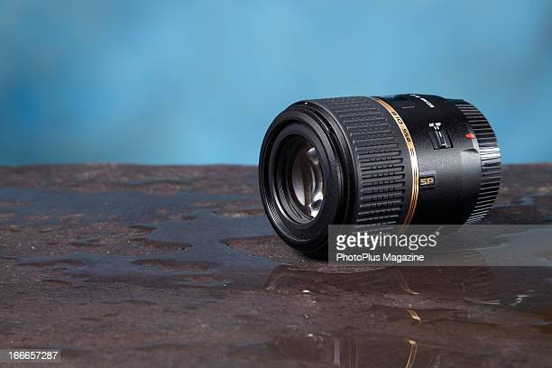 A Tamron SP AF 60mm f/2 Di II Macro camera lens photographed during a studio shoot for PhotoPlus Magazine September 5 2012
