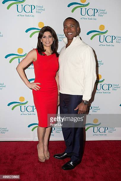Tamsen Fadal and Mike Woods attend the 6th Annual UCP Of NYC Santa Project Party and auction benefiting United Cerebral Palsy of New York City at The...