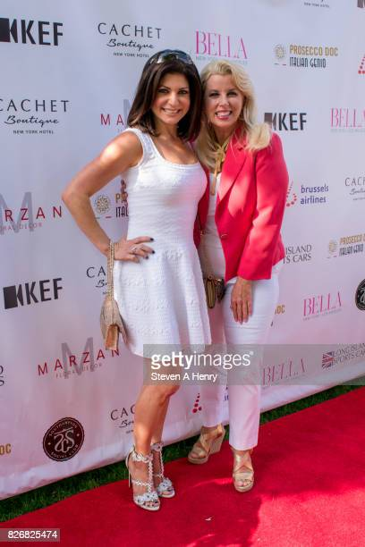 Tamsen Fadal and Rita Crosby attend BELLA New York's Fifth Annual Hamptons White Party at Southampton Social Club on August 5 2017 in Southampton New...