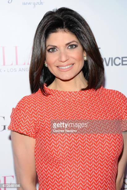 Tamsen Fadal attends BELLA New York Spring Issue cover party hosted by Kelly Osbourne at Bagatelle on April 24 2017 in New York City