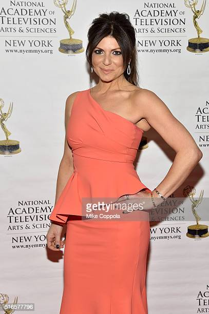 Tamsen Fadal attends the 59th annual New York Emmy Awards at Marriott Marquis Times Square on March 19 2016 in New York City