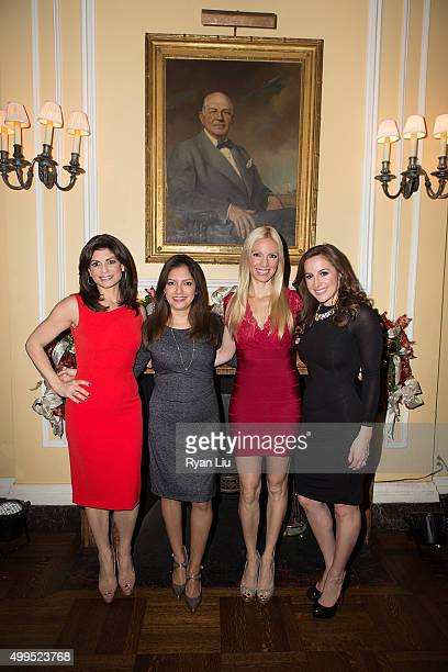 Tamsen Fadal Ines Rosales Liza Huber and Teresa Priolo attend the 6th Annual UCP Of NYC Santa Project Party and auction benefiting United Cerebral...