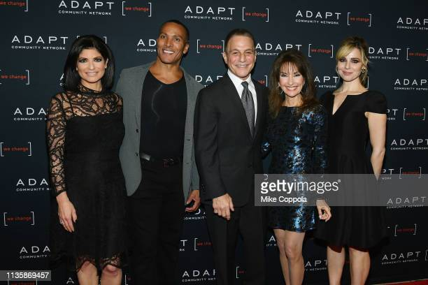 Tamsen Fadal Mike Woods Tony Danza Susan Lucci and Cara Buono attend the 2019 2nd Annual ADAPT Leadership Awards at Cipriani 42nd Street on March 14...