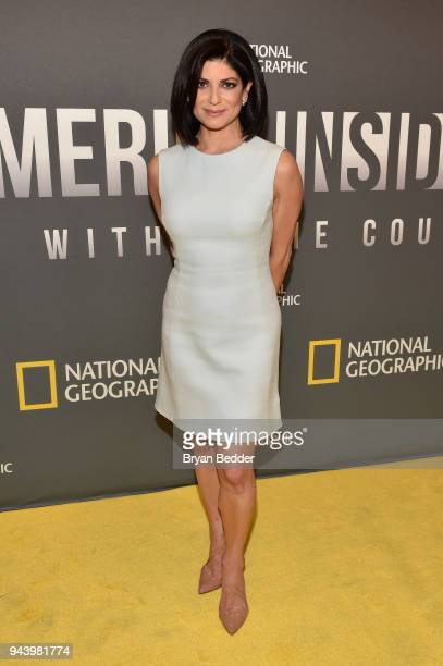 Tamsen Fadal News Anchor PIX11 News attends National Geographic's premiere screening of AMERICA INSIDE OUT WITH KATIE COURIC on April 9 2018 in New...