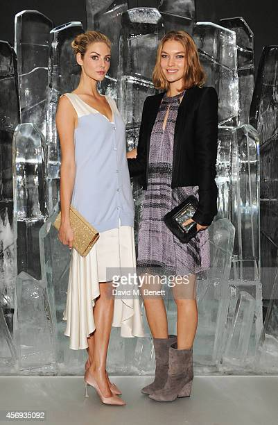 Tamsin Egerton and Arizona Muse attend the dinner hosted by Sandra Choi Creative Director of Jimmy Choo to unveil Jimmy Choo's new VICES collection...
