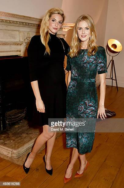Tamsin Egerton and Donna Air attend the Baccarat/1 Hotel Dinner at One Horse Guards on October 21 2015 in London England