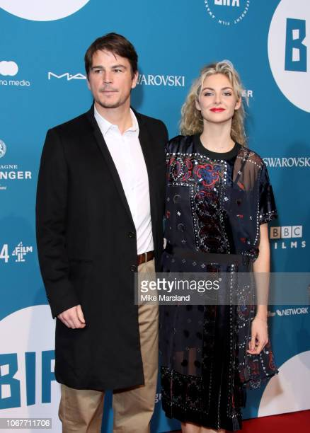Tamsin Egerton and Josh Hartnett attend the 21st British Independent Film Awards at Old Billingsgate on December 2 2018 in London England