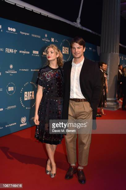 Tamsin Egerton and Josh Hartnett attend the 21st British Independent Film Awards at Old Billingsgate on December 2, 2018 in London, England.